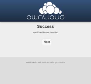 Screenshot ownCloud Web-Interface 3